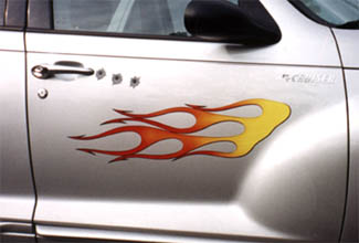Magnetic Flames Decal Lost In Suburbia - Magnetic car decals flames