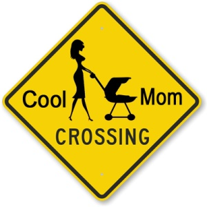 mom crossing