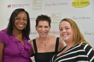 Stacey Ferguson of Blogalicious and Lara DiPaola of Chicken Nuggets of Wisdom at the Bethesda Book and Blow Dry Party