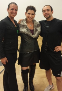 (L-R) Tiani Norman, Personal Trainer, me, and Leo Troso, Personal Training Manager