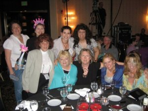 With friends at The Erma Bombeck Writers' Workshop in 2012