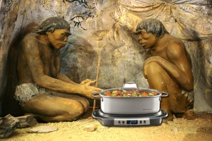 cavemen cooking